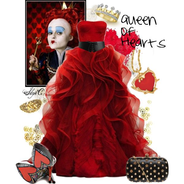 The inspiration: The Red Queen of Tim Burton and Disney's Alice in Wonderland.