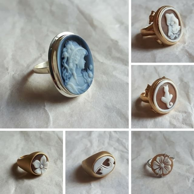 Black Friday weekend is coming! Discover our cameo ring collection in the Etsy online shop!     #donadiojewelry #cameojewelry #blueagate #agatestone #ring