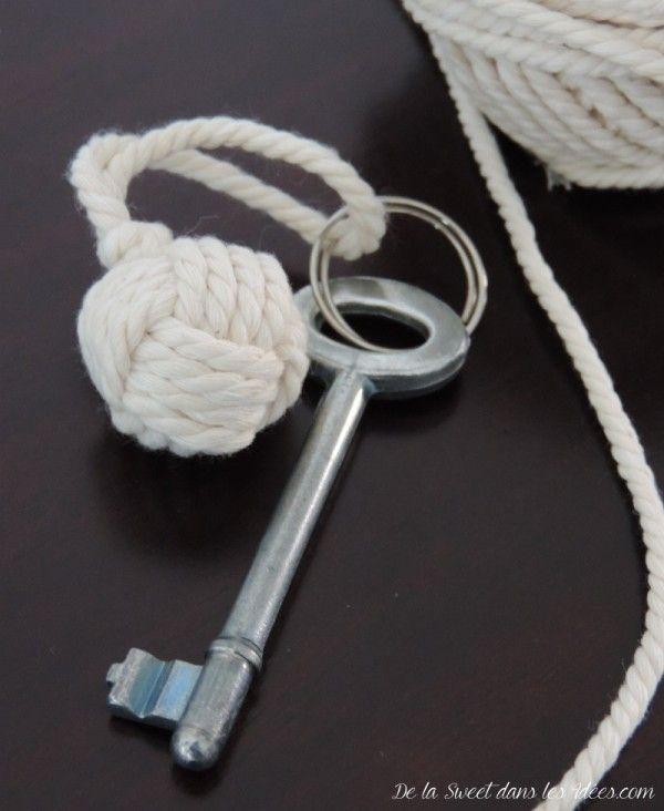 cadeaux d'invités portes-clefs noeud marin                                                                                                                                                                                 Plus
