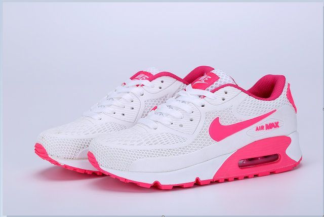 4dba70031619 Nike Air Max 90 New Women s shoes Pink White