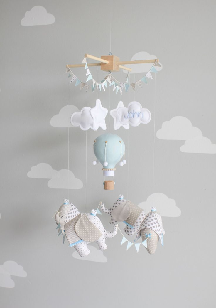 Mobile bébé éléphant éléphants et ballon à Air par sunshineandvodka