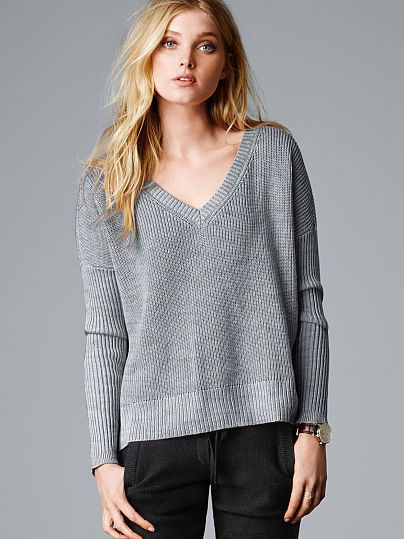 Ribbed Boxy Pullover A Kiss of Cashmere