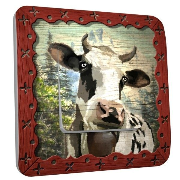 Interrupteur déco Vache laitière simple