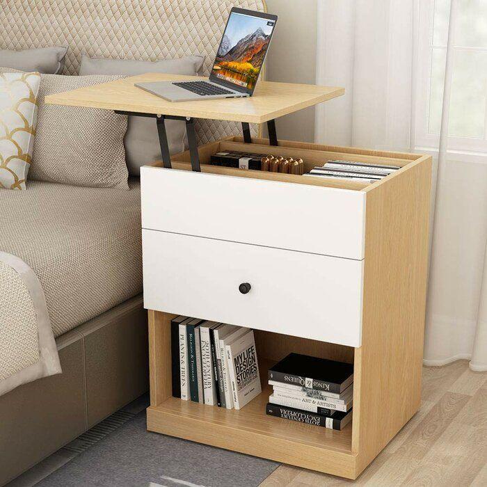Okelley Lift Top 1 Drawer Nightstand Bedroom Night Stands