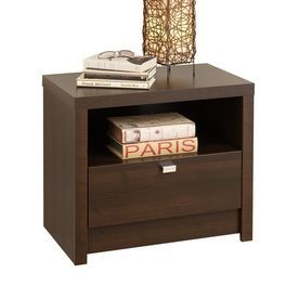 Prepac Furniture Series 9 Designer Espresso Nightstand Ednr-0510-1