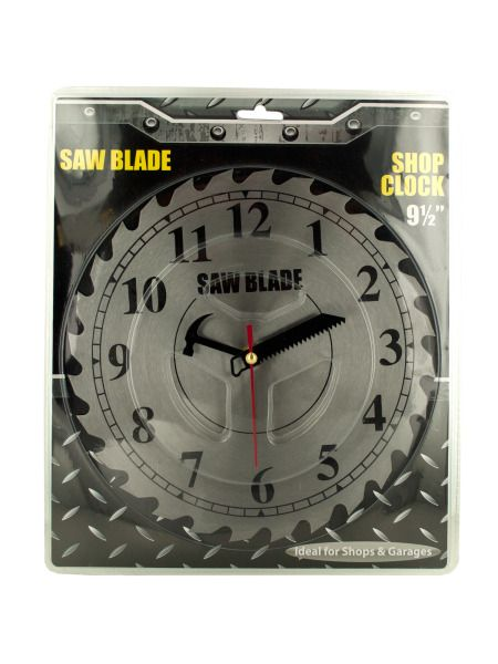 OC566-Bulk Buys OC566 Saw Blade Shop Clock Buy It In Bulk - Bringing the Warehouse Club experience straight to your door