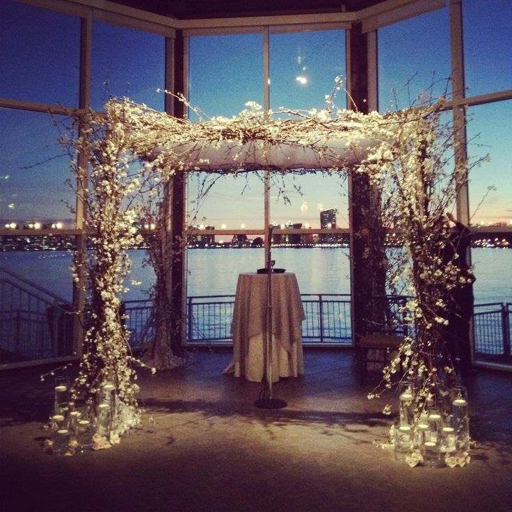 Love the arch for a winter wedding.