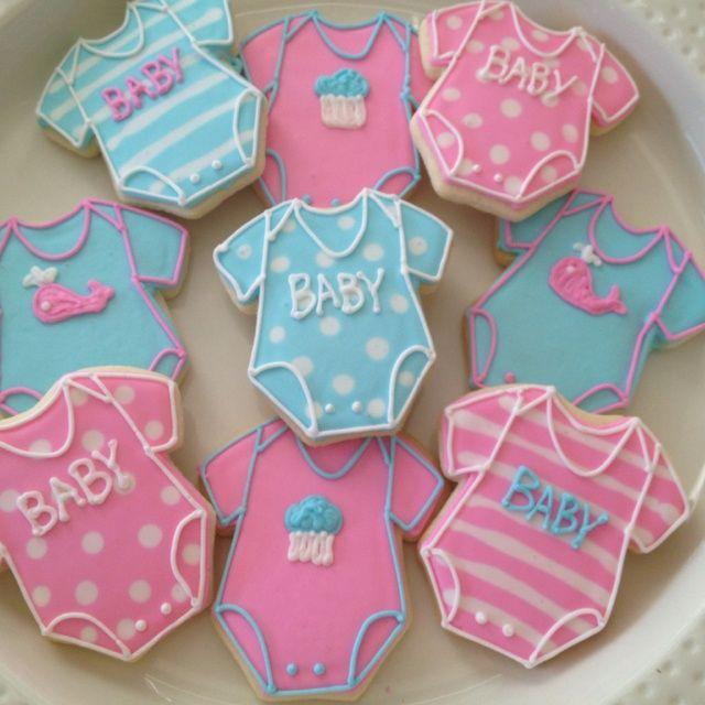 198 best Baby onesie Decorated Cookies And cake pops ...  |Best Baby Shower Cookies