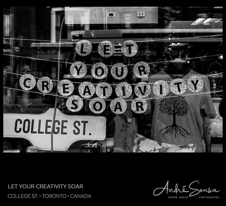 See this Instagram photo by @andresousaphotos • 26 likes . Let Your Creativity Soar. . With window displays like this, how can you not like window shopping. I just got something for nothing, and it'll last me a life time. . 🎞 #Creativity in #WindowShopping #Display⠀ 🌍 #collegestreet  #Toronto #Canada