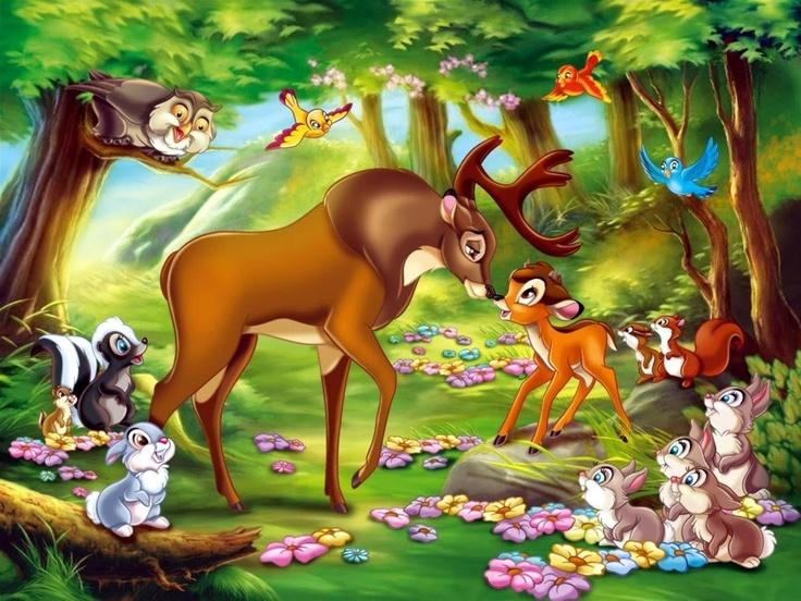 Bambi Jungle Hd Wallpaper