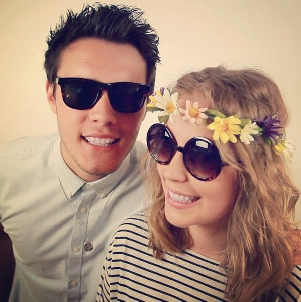 Alfie Deyes and Poppy Deyes, his sister