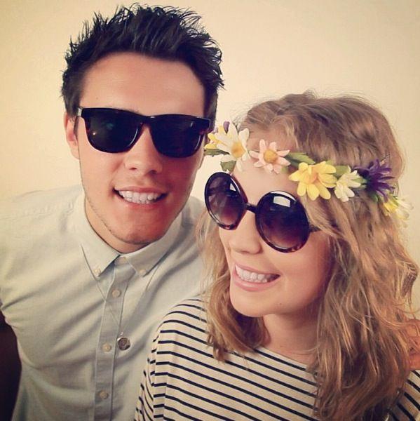 Alfie Deyes and Poppy Deyes, his sister