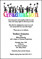 New and creative college graduating announcement invitation stationery cards at graduationcardsshop.com