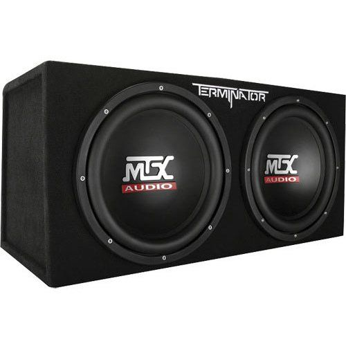 "MTX Audio Terminator Series TNE212D 1200 Watt Dual 12"" Sub Enclosure"