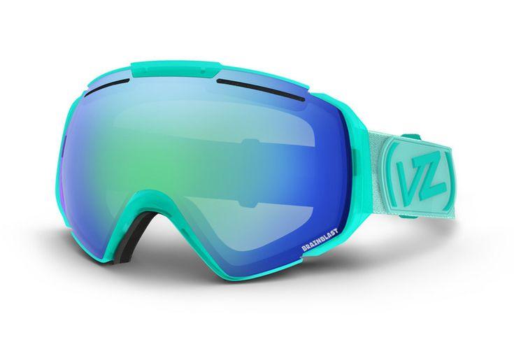 2014 - 2015 VonZipper Brainblast ski & snowboard goggle in mint with a quasar chrome lens. GMSN7ELK-MNT