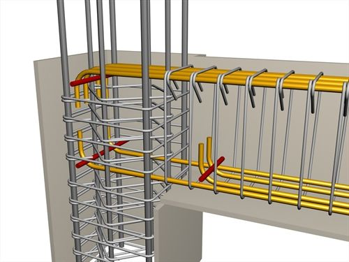 As far as the bar anchorage for slabs or beams is refereed to as 'simple hook anchorage' then metal pins should be placed in the bending areas with a diameter ≥Ø