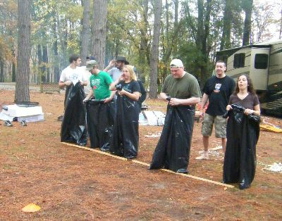 garbage bag races