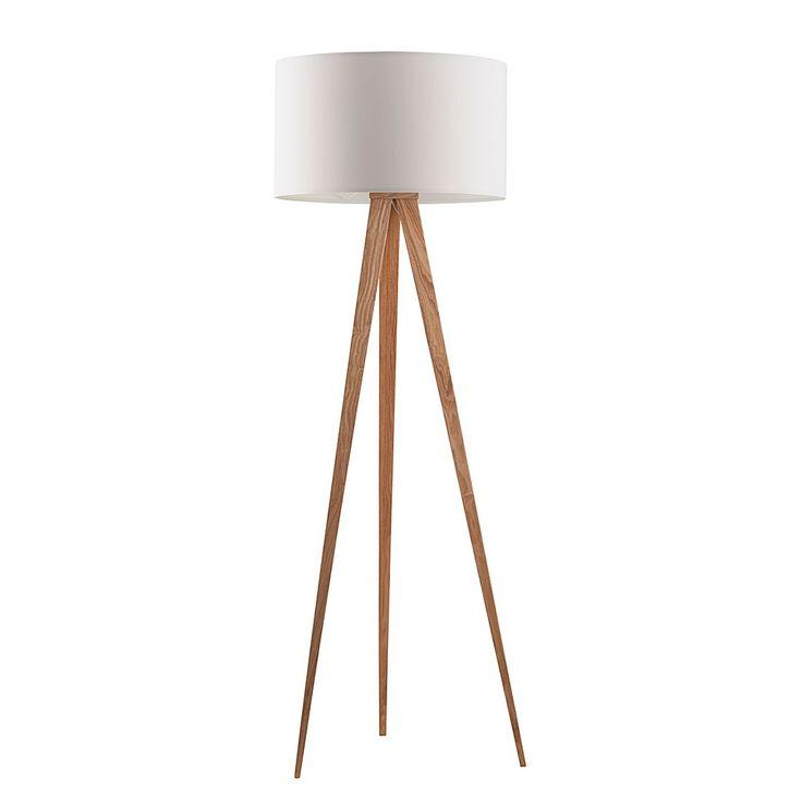 Lampadaire TRIPOD - Bois - 1 ampoule - Blanc