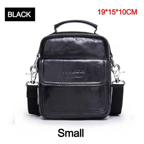 CONTACT S Genuine Leather Shoulder Bags Fashion Men Messenger Bag Small  ipad Male Tote Vintage New Crossbody 6f31d4cae99a0