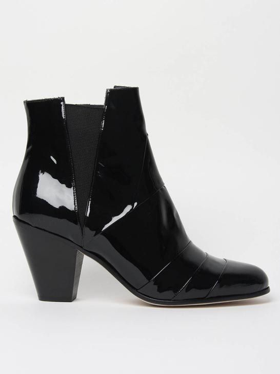 "High ""Cuban"" Heel Ankle Boots"