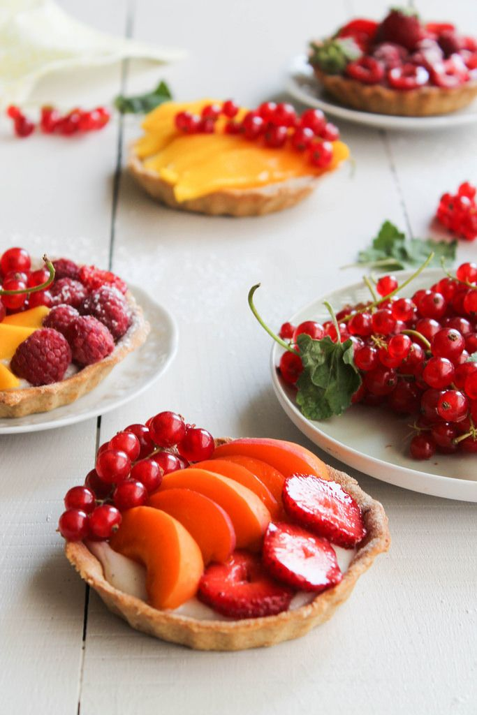 vegan fruit tartelettes