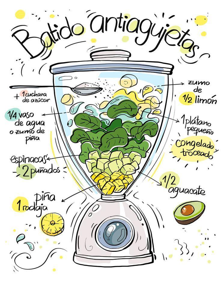 Restaurante Vegano Vegetariano Km.0 Donostia   Batidos ilustrados de Cartoon and Cooking