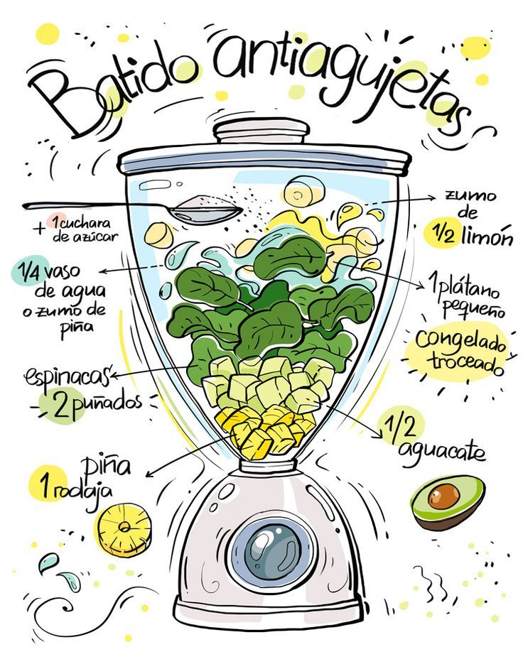 Restaurante Vegano Vegetariano Km.0 Donostia | Batidos ilustrados de Cartoon and Cooking