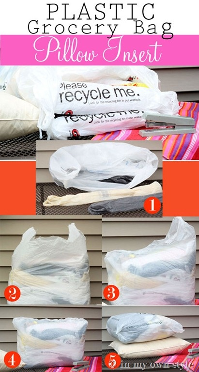 Thinking For Outside Plastic Bag Pillow Form Tutorial