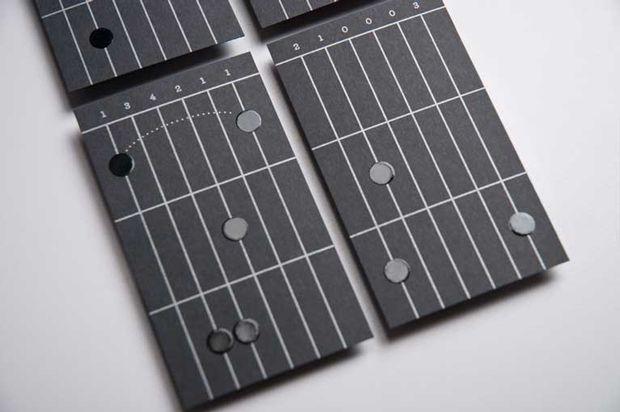 Tarjetas de visita para tus primeras lecciones de guitarra