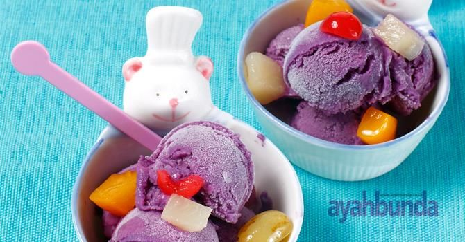 Es Krim Ubi Ungu :: Purple Tuber Ice Cream :: Klik link di atas untuk mengetahui resep es krim ubi ungu