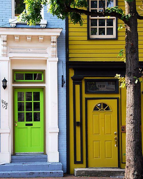: Colourful Doors, Doors Inspiration, Doors Gates Keys, Colored Doors, Front Doors, Beautiful Doors, Windows, Colorful Doors, Entrance
