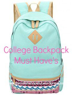 College backpack must have's