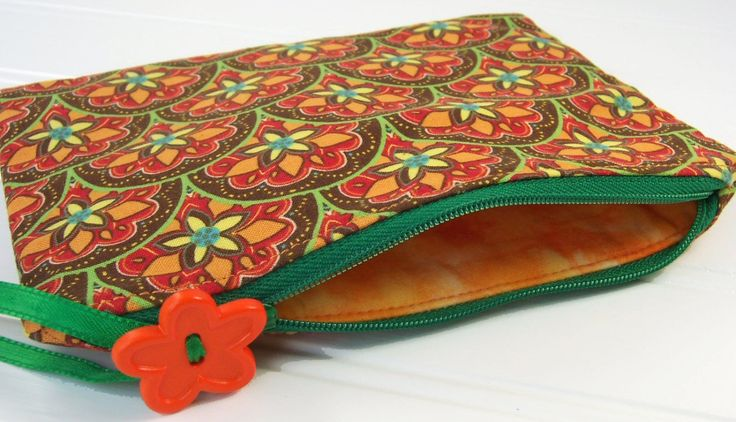 Boho Cosmetic Bag - zippered makeup bag by TeriMadeIt on Etsy