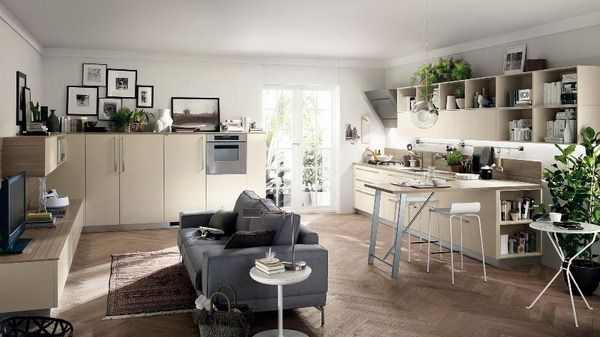 Kitchen And Living Room Are One - http://www.girlishmag.com/hairstyle/kitchen-and-living-room-are-one.html