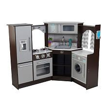 KidKraft Ultimate Corner Play Kitchen Set  Espresso