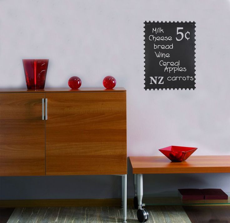 NZ Kiwiana Stamp Chalk Blackboard Wall Sticker