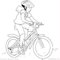 Coloriage vélo à la montagne