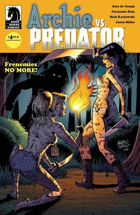 """Archie vs Predator 4"" (2015) Cover di Andrew Pepoy  #DarkHorseComics #Predator #Archie #AlexDeCampi #FernandoRuiz #AndrewPepoy"