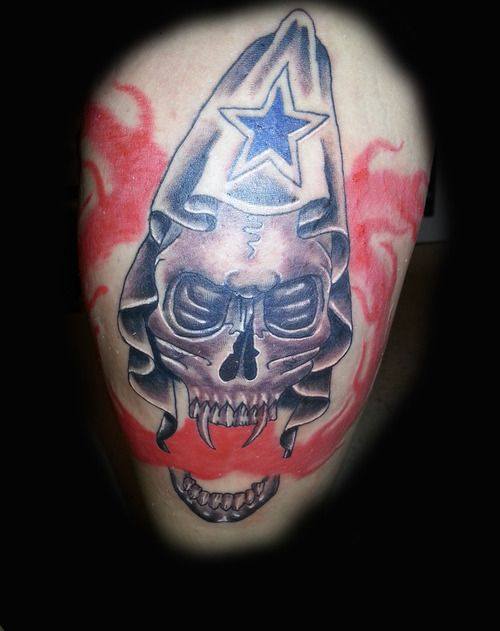 Dallas Cowboys Star amp Skull Tattoo