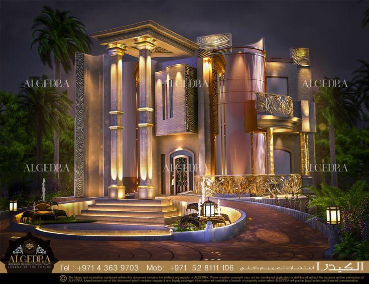 Villa Exterior Design - Night Lighting