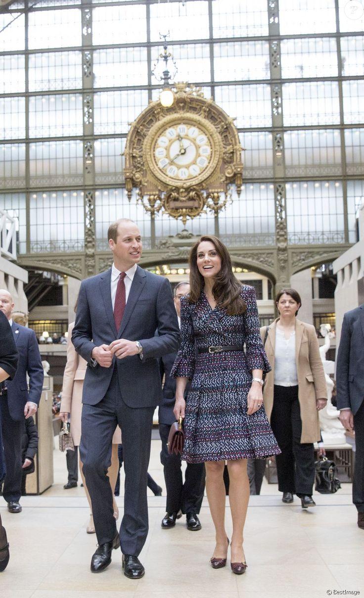 La duchesse Catherine de Cambridge et le prince William au musée d'Orsay le 18 mars 2017 lors de leur visite officielle à Paris.