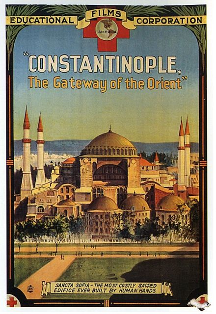 vintage travel posters | Vintage Istanbul Travel Poster