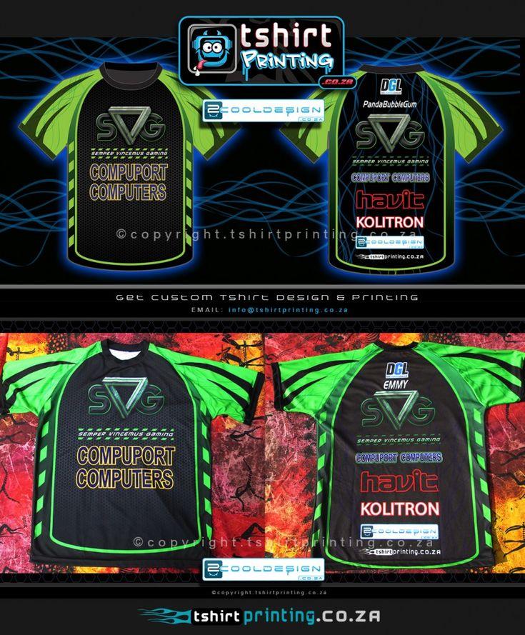 Custom Gamer shirt design for RAGE EXPO 2014 for SVG gaming