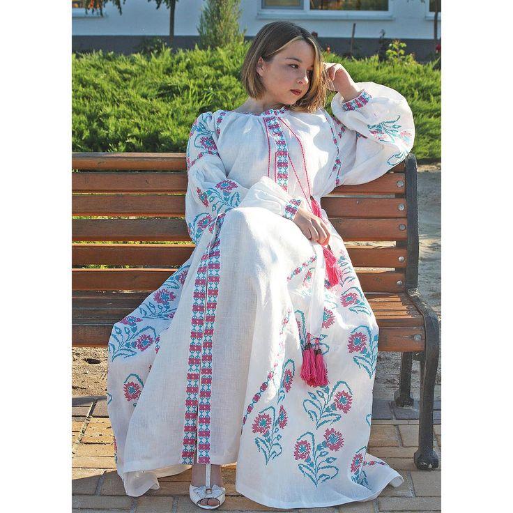 White Embroidered Linen Dress Vyshyvanka Bohemian Plus size dress Ukraine women dress Summer vita kin style Mexican dress Boho Kaftan Dress @yasen_svit @yasensvit_anna @yasensvit_elis @yasensvit_darina  ORDER ☛www.etsy.com/shop/fashionbyjulia ☛http: