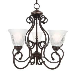 FOYER Hampton Bay Bercello Estates Collection 5 Light 82 In Hanging Volterra Bronze