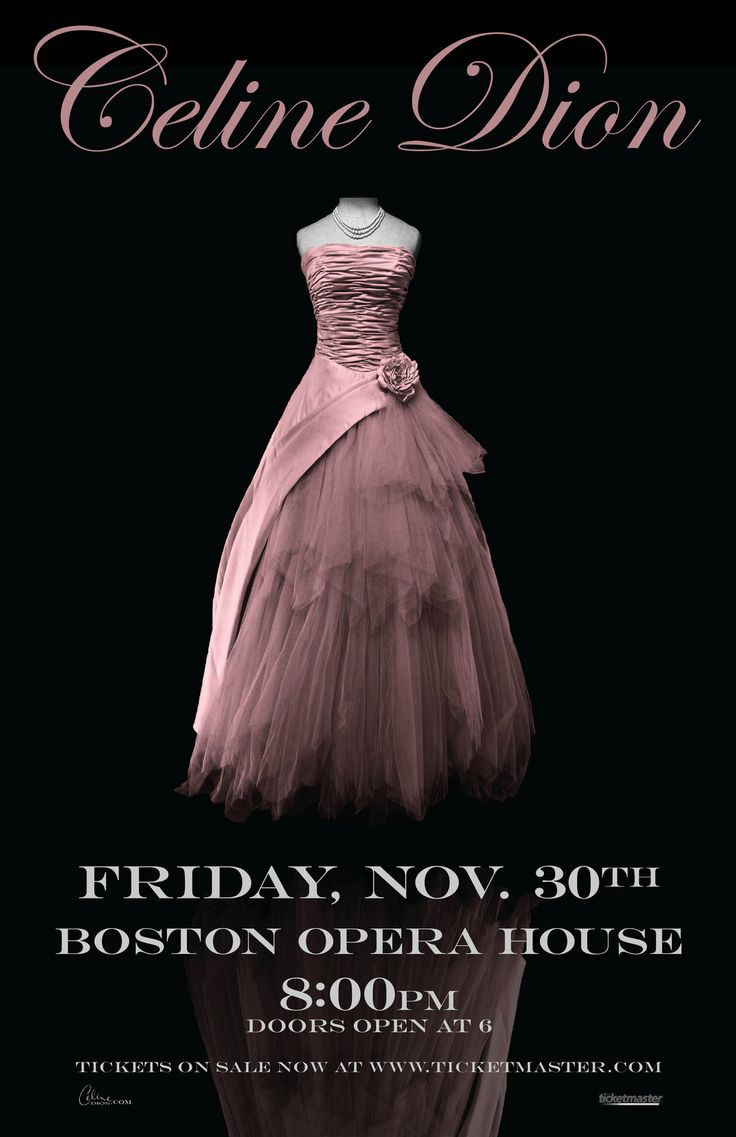 Celine Dion Concert Poster by jennyleighb