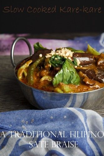Slow Cooked Oxtail Kare-kare - Pin Me