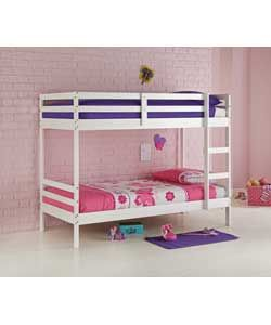 shorty bunk bed frame white