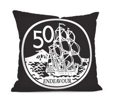 50 Cent Coin  - Cushion Cover