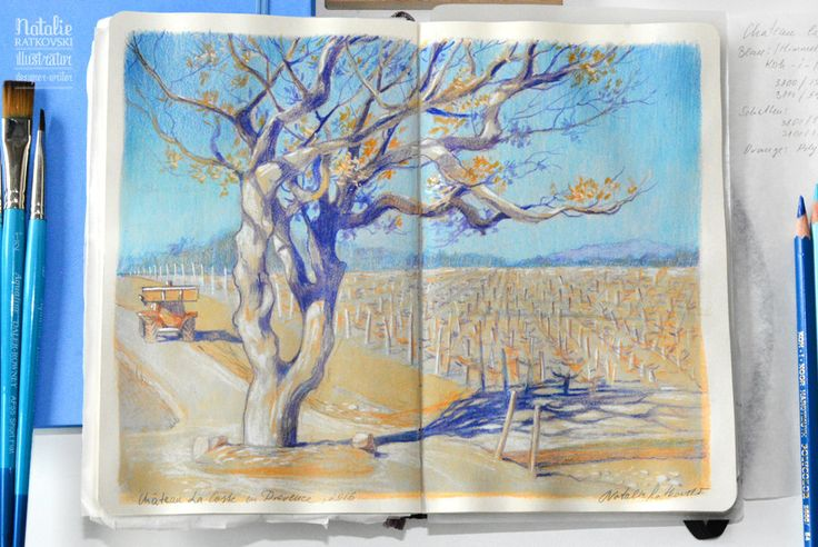 My sketches in Provence